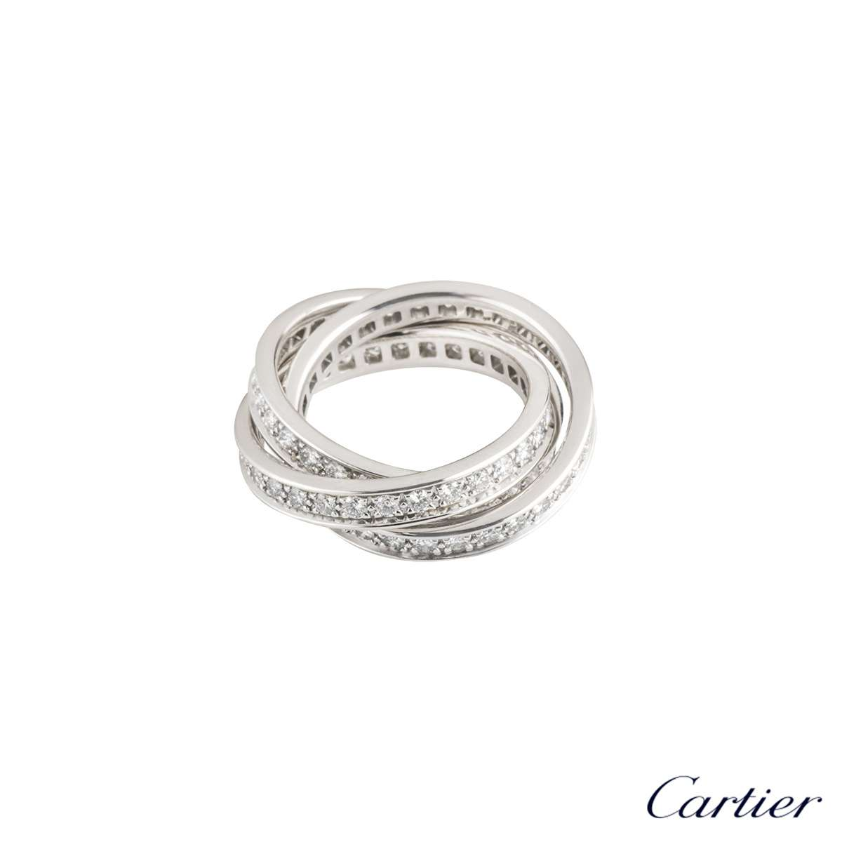 White Gold Trinity de Cartier Diamond Ring B4106248